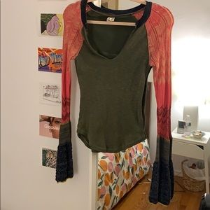 Colorful Free People Top